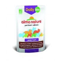 Almo Nature Mokra karma dla kotów z wołowiną i warzywami Daily Menu 70 g Bio